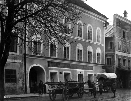 Birth place of Adolf Hitler, located Salzburger Vorstadt 15, Braunau am Inn, Upper Austria
