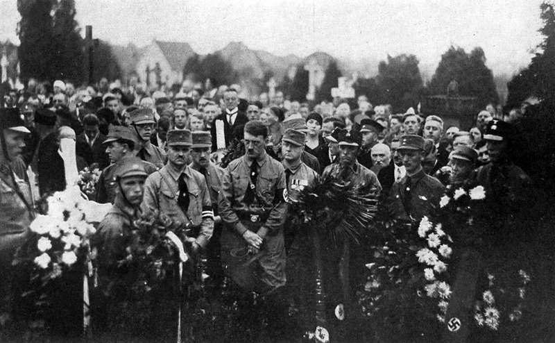Hitler at Erich Jost's funeral in Lorsch
