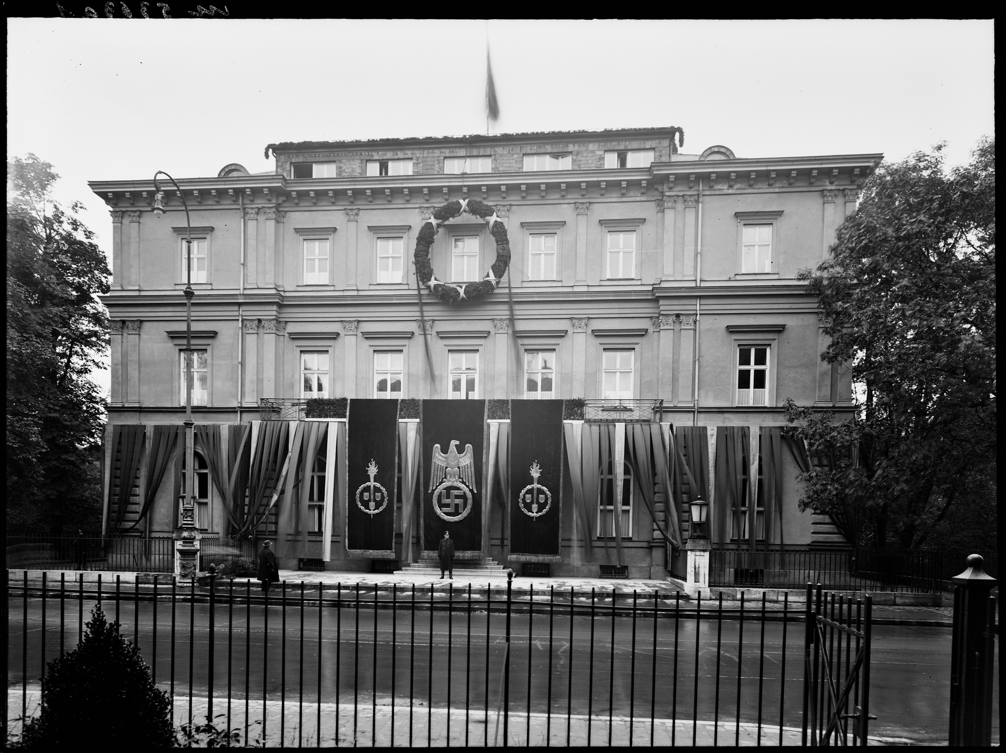 The Brown House (Braunes Haus) opens and becomes the official Headquarters of the NSDAP at Brienner Straße 34 in Munich (Heinrich Hoffmann)