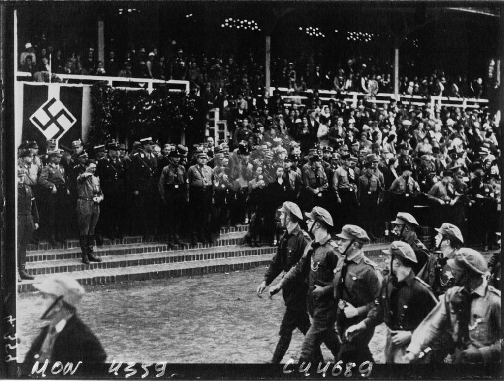 Hitler at the first Reichsjugendtages in Potsdam with Baldur Von Schirach