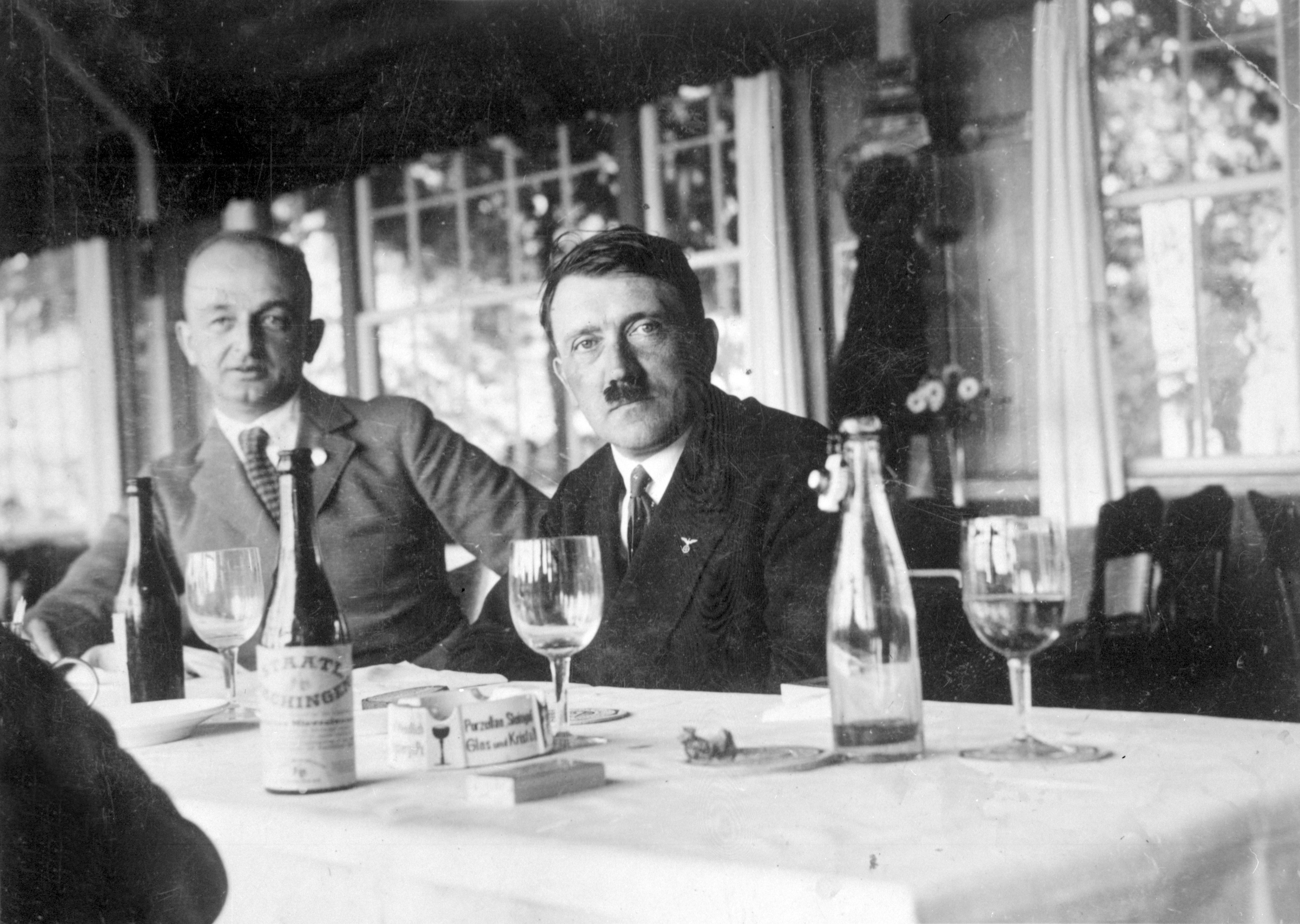 Adolf Hitler in the restaurant Osteria Bavaria in Munich, from Eva Braun's albums