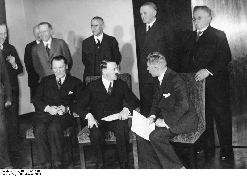 Adolf Hitler's cabinet just after being named chancellor of Germany