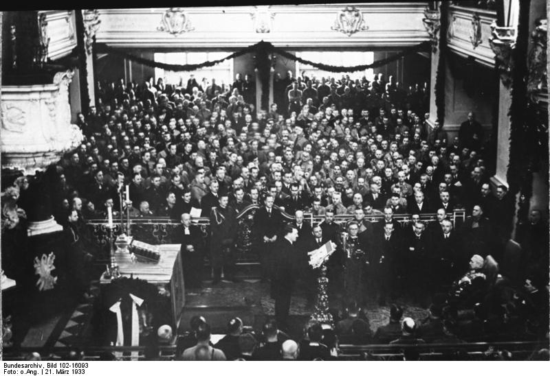 Adolf Hitler opens the first Reichstag
