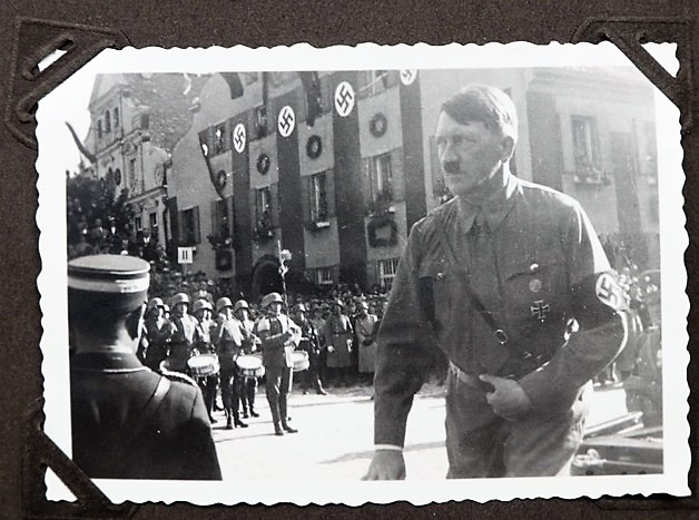 Adolf Hitler in Kelheim, from an SA private photo album