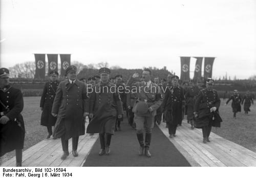 Adolf Hitler and Martin Mutschmann in Leipzig