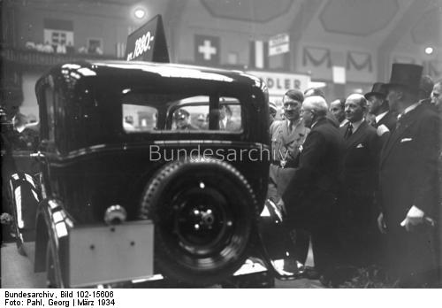 Adolf Hitler at the Berlin auto show