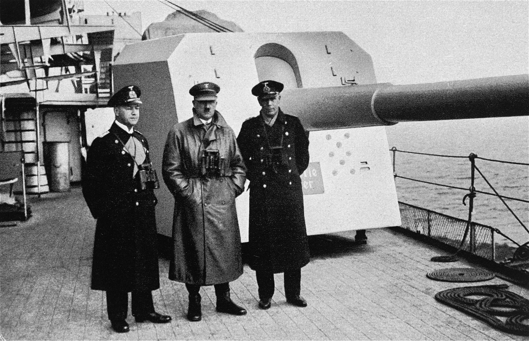 During the inspection of the Deutschland battleship