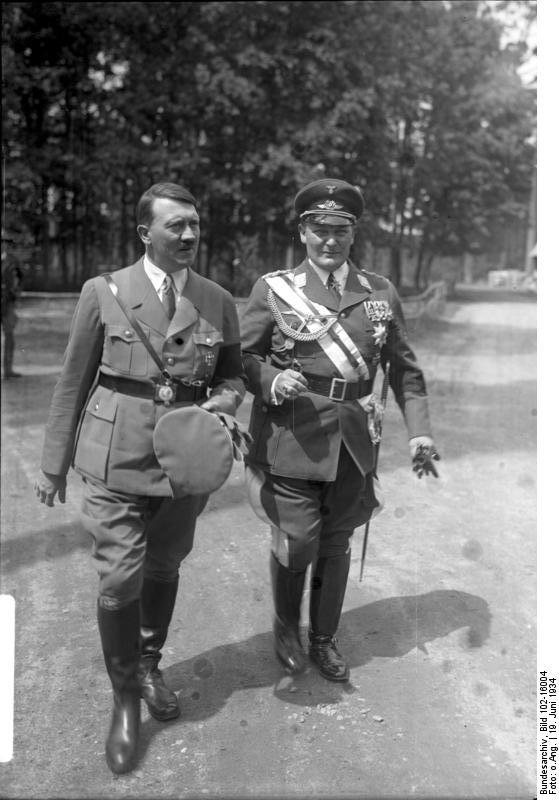Adolf Hitler and Hermann Göring at the re-burial of Göring's first wife, Carin, in Carinhall