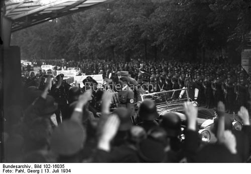 Adolf Hitler arrives at the Reichstag
