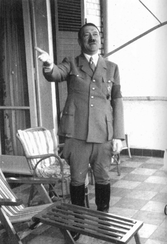 Adolf Hitler on the terrace of his suite of Hotel Dreesen in Bad Godesberg