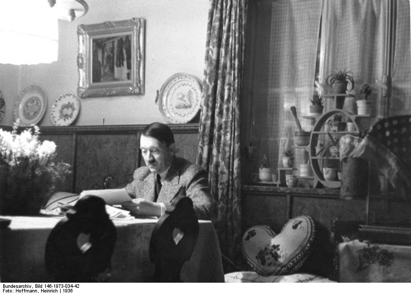 Adolf Hitler at Haus Wachenfeld in January 1935