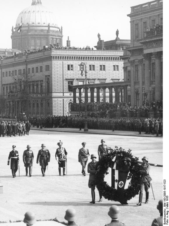 August von Mackensen with Adolf Hitler at the Berliner Dom Parade during the Heldengedenktag