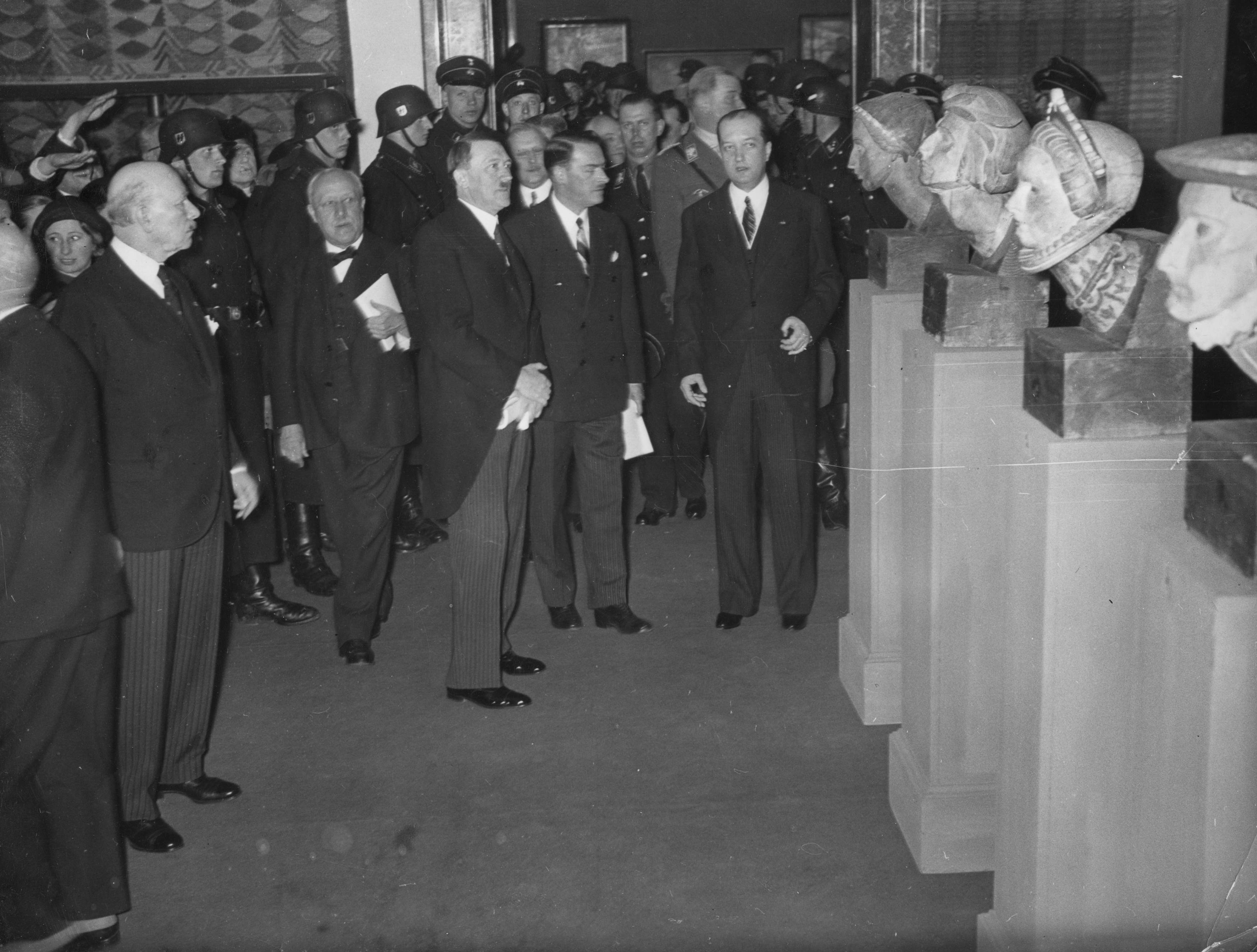 Adolf Hitler visits an exhibition of Polish art in the Akademie der Künste in Berlin