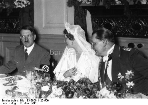 Adolf Hitler at the wedding reception of the Görings