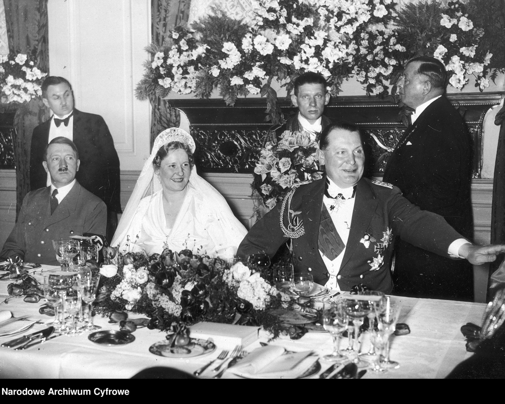Adolf Hitler at the wedding of the Goerings
