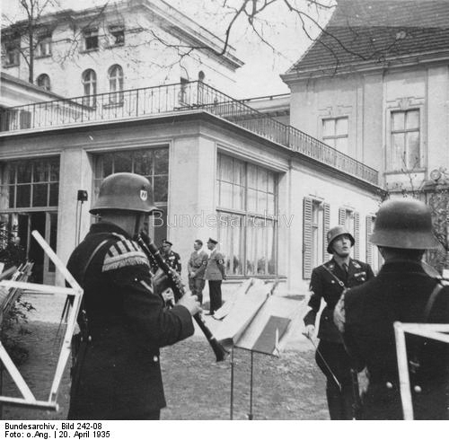 Adolf Hitler's 46th birthday in the gardens of the Reichspräsidentenpalais in Berlin's Wilhelmstraße
