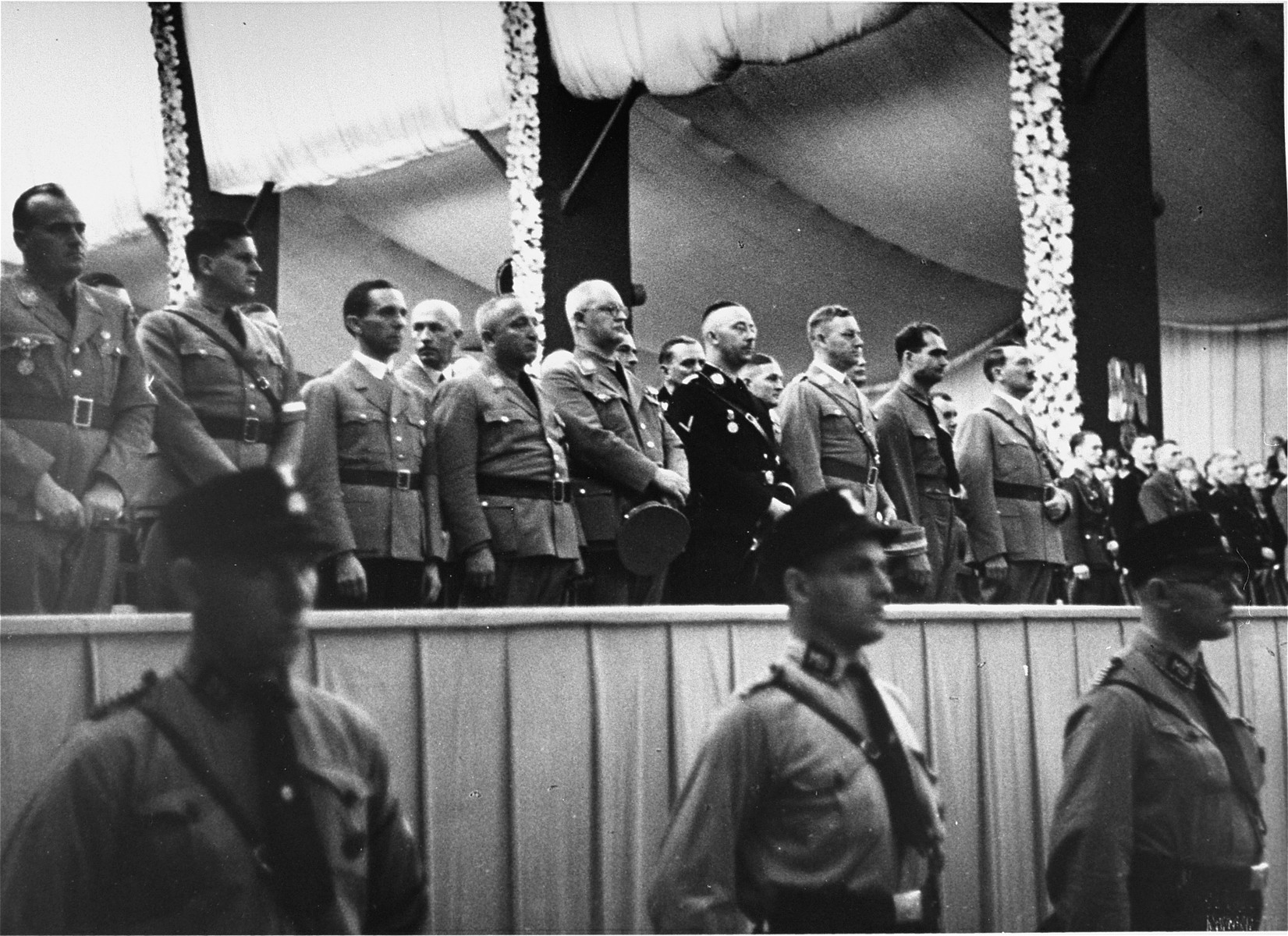 Adolf Hitler and NSDAP members in the Luitpold Hall in Nuremberg for the opening of the 1935 Parteitag