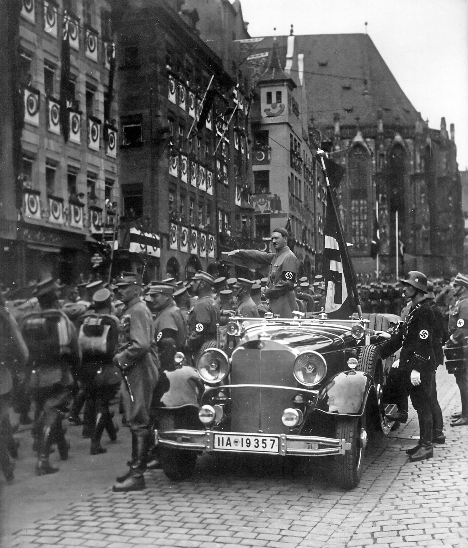 Adolf Hitler at the Nürnberg parade