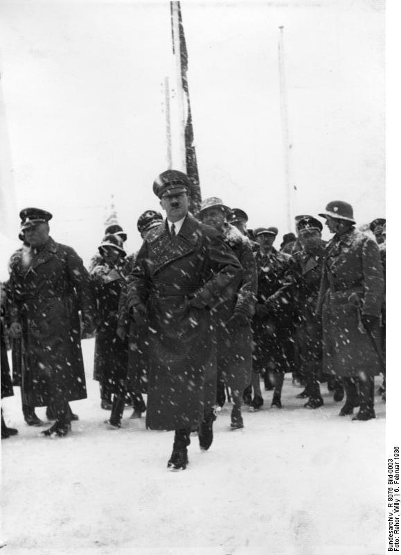 Chancellor Adolf Hitler at the opening ceremony of the IV Olympic Winter Games, Garmisch-Partenkirchen
