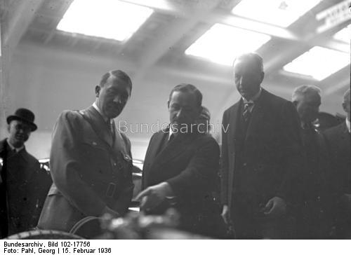 Adolf Hitler visiting the international motor show in Berlin