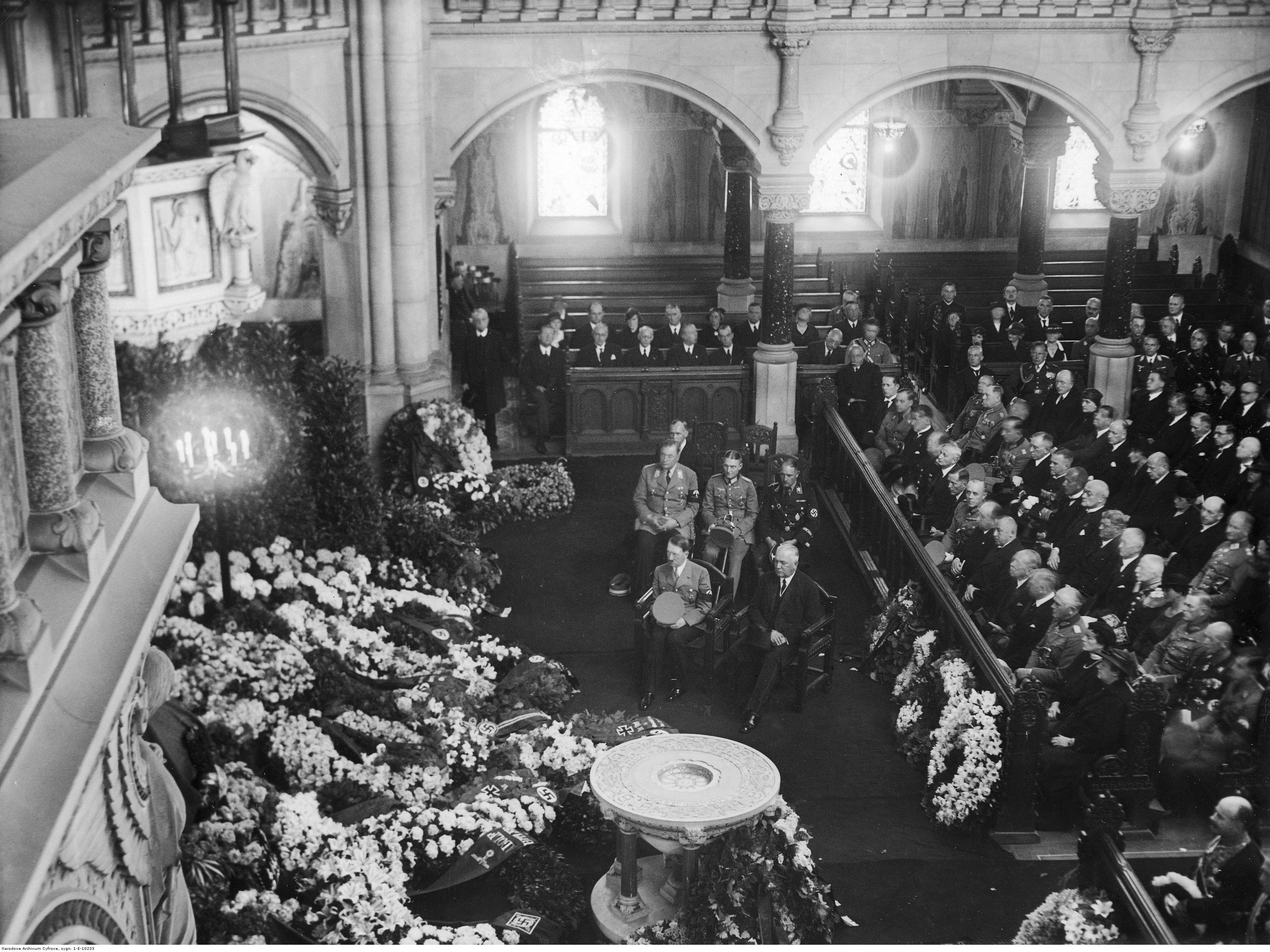 Adolf Hitler at the funeral of Bernhard Wilhelm von Bulow in Berlin