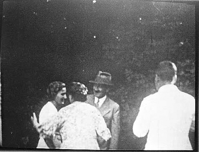Adolf Hitler with the Wagner family in Bayreuth