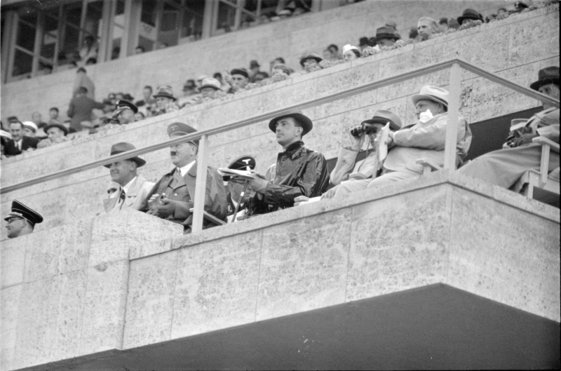 Adolf Hitler on the VIP tribune during Berlin's summer Olympics