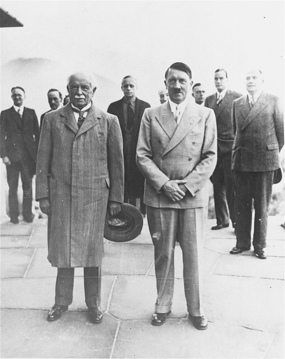 Adolf Hitler and David Lloyd George at the Berghof