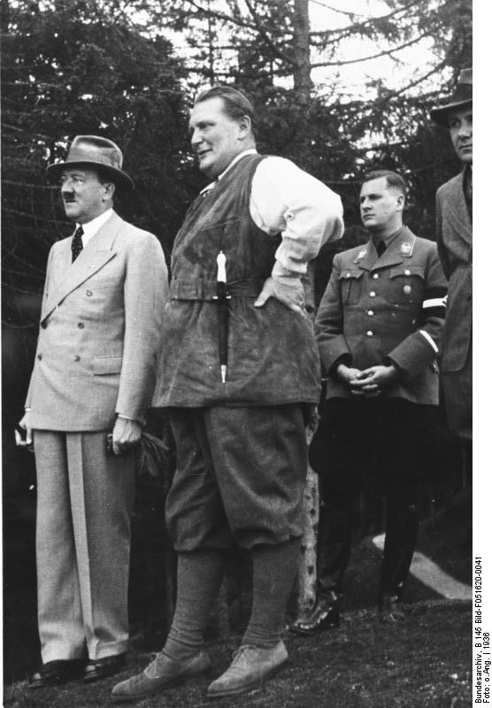 Adolf Hitler with Hermann Göring, and Baldur von Schirach on the Obersalzberg
