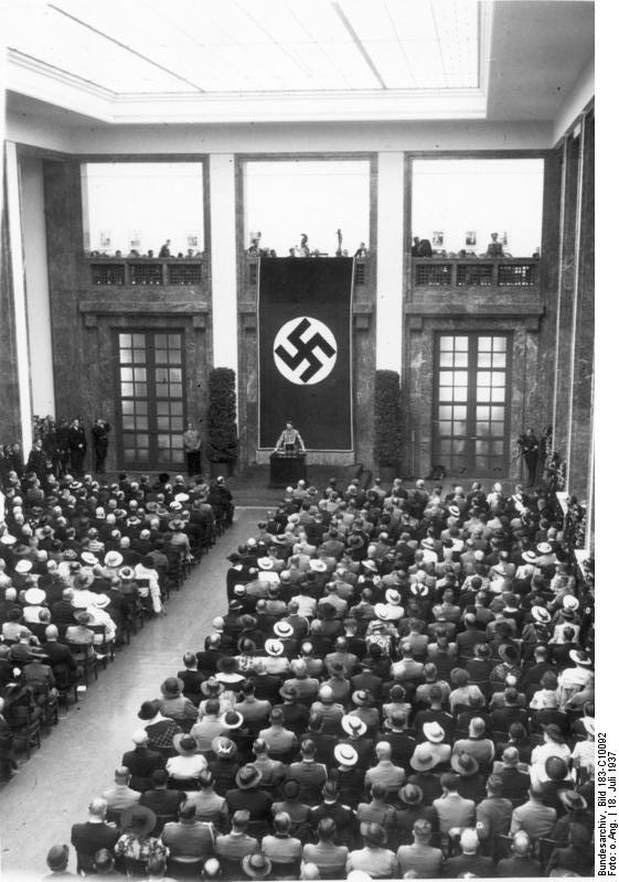 Adolf Hitler at the inauguration of the House of German Art, Munich