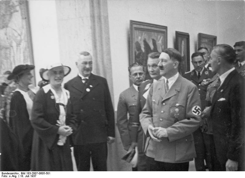 Adolf Hitler touring the House of German Art, Munich