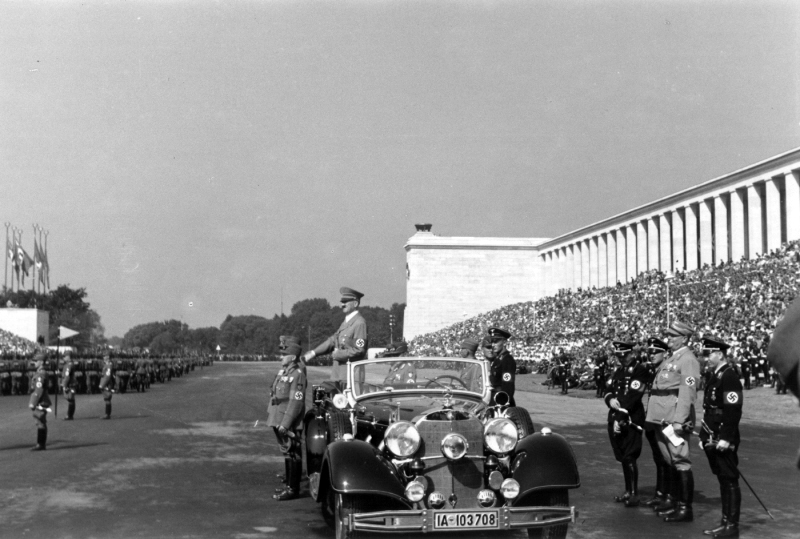 Adolf Hitler taking the salute of the Reich Labour Service