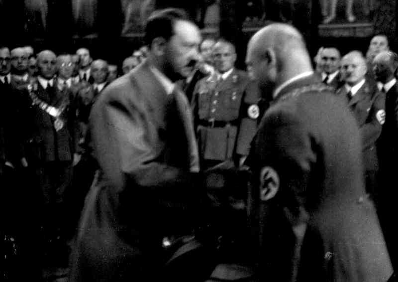 Adolf Hitler thanks mayor Krebs