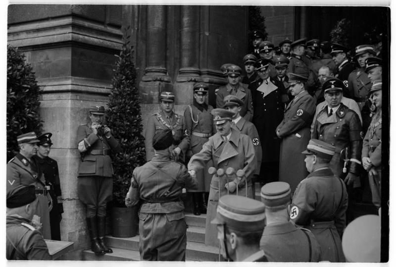 Adolf Hitler in front of Vienna's Rathaus