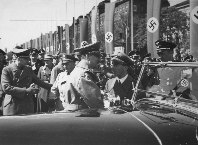 Adolf Hitler and Joseph Goebbels in Vienna