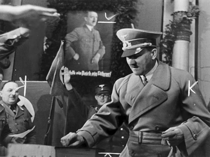 Hitler voting for the election to the Grossdeutscher Reich
