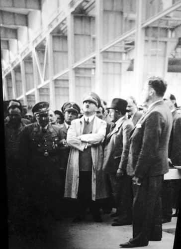 Adolf Hitler visits the Volkswagen factory in Fallersleben with Ferdinand Porsche