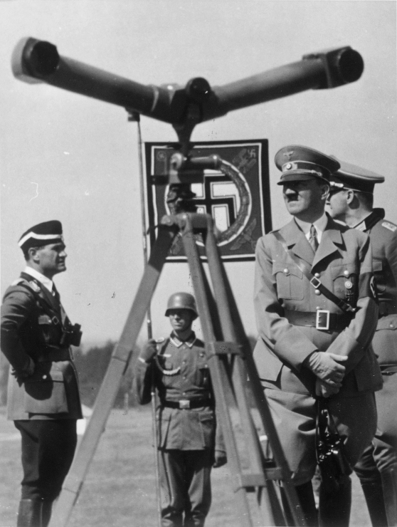 Adolf Hitler and General von Brauchitsch inspecting manoeuvers in Gross Born
