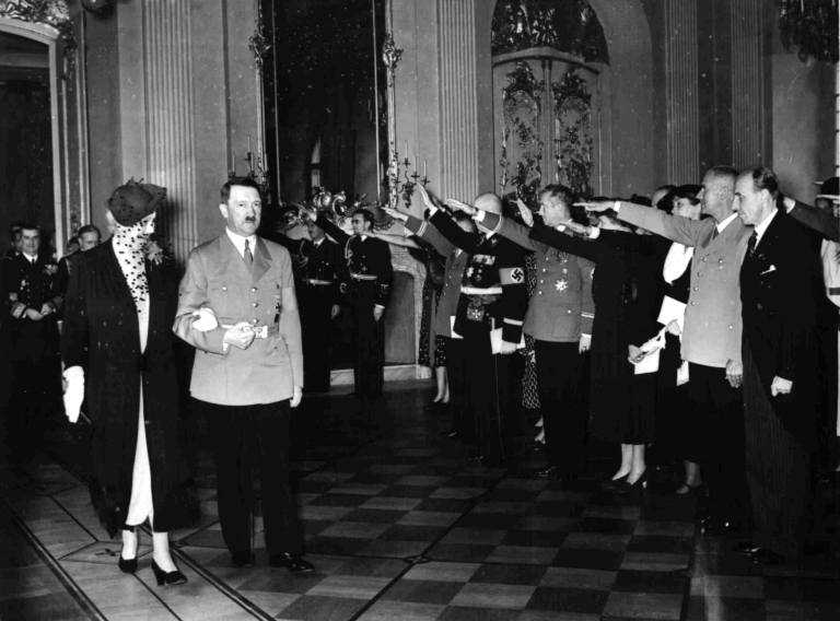 Adolf Hitler with Frau Horthy in Charlottenburger Schloss