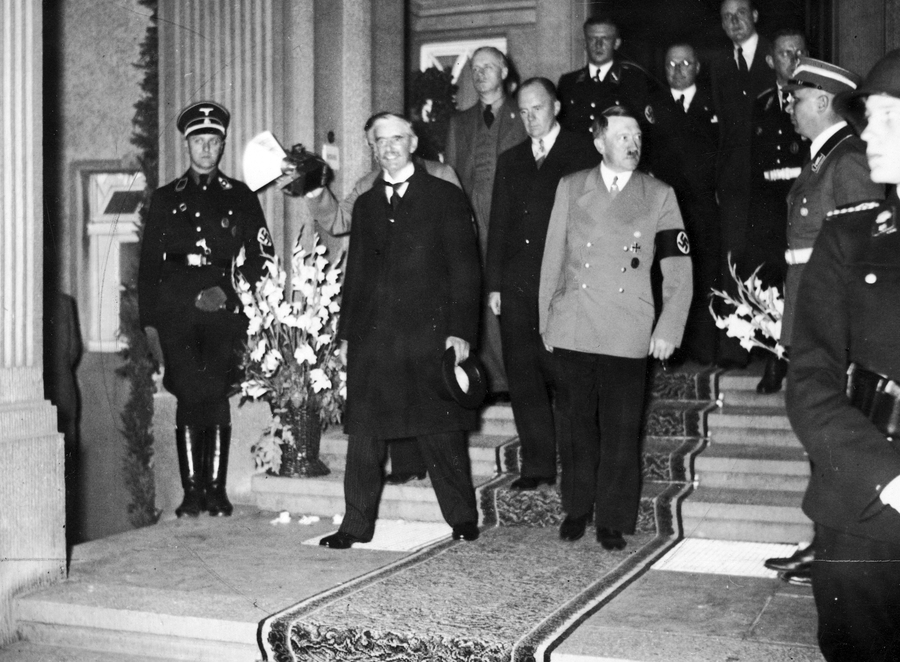 Adolf Hitler and Neville Chamberlain in Bad Godesberg