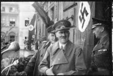 Adolf Hitler and Hermann Göring on the balcony of Jägerndorf Town Hall, Sudetenland