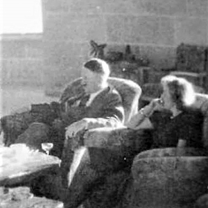 Adolf Hitler and Eva Braun in the Kehlsteinhaus (Eagle's Nest) on the Obersalzberg