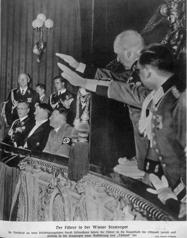 Adolf Hitler in Vienna's opera at a representation of Tiefland