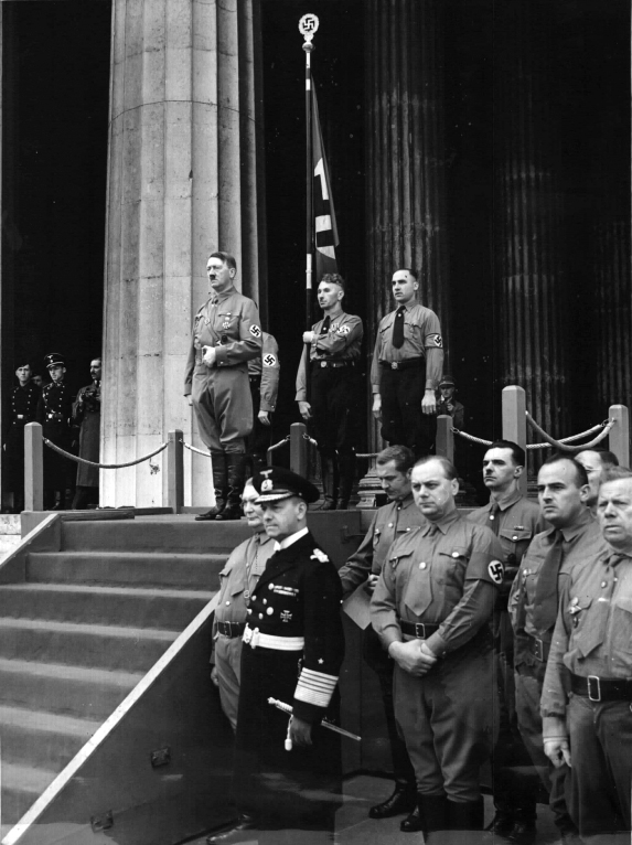 Adolf Hitler at the fifteenth commemoration of the Putsch
