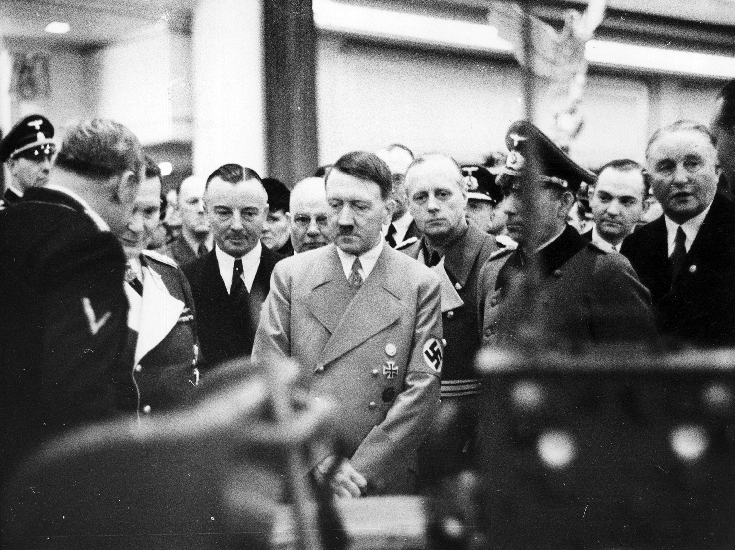 Adolf Hitler and Göring at the Berlin automobile show
