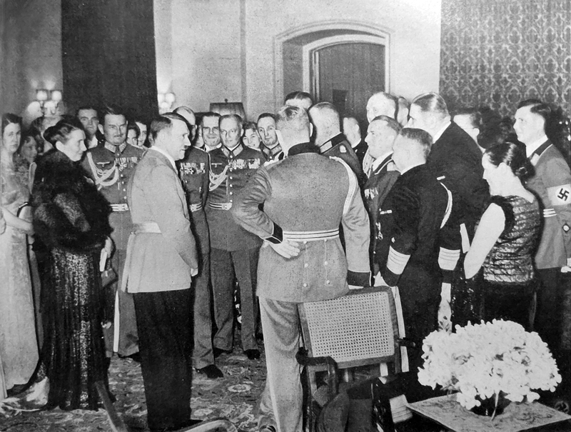 Reception for the commander-in-chief of the Wehrmacht and the commanding generals and admirals with their wives