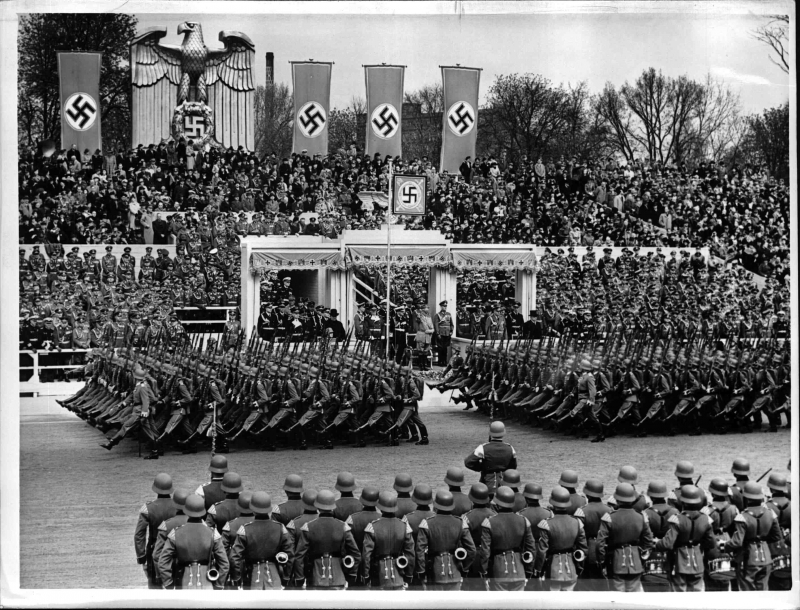 Parade for Adolf Hitler's 50th birthday