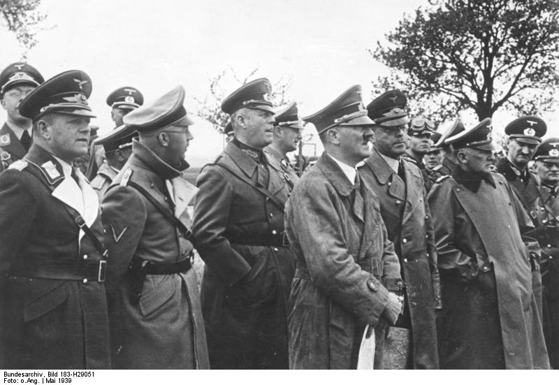 Adolf Hitler inspects the Westwall