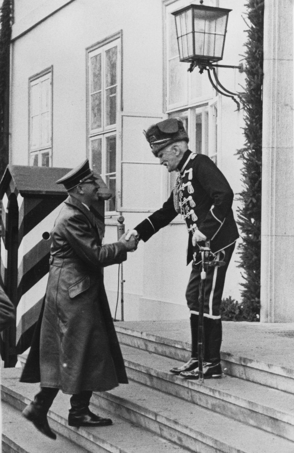 Adolf Hitler greets August von Mackensen for his 90th Birthday