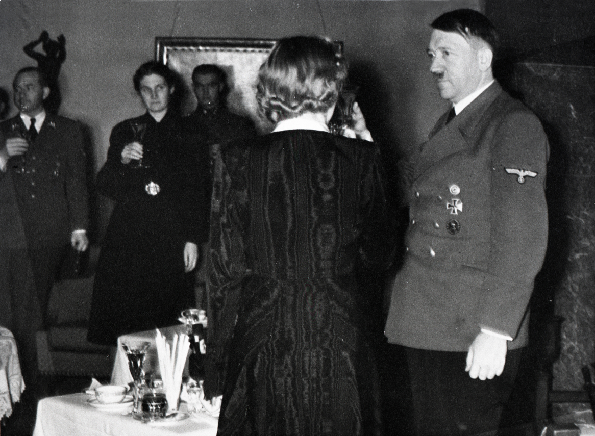 Adolf Hitler and his entourage celebrate the New Year at the Berghof, from Eva Braun's albums
